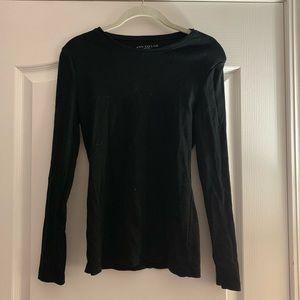 Ann Taylor basic black long sleeved shirt